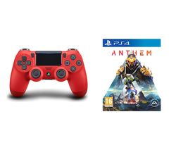 PS4 Anthem & DualShock 4 V2 Wireless Controller Bundle - Magma Red
