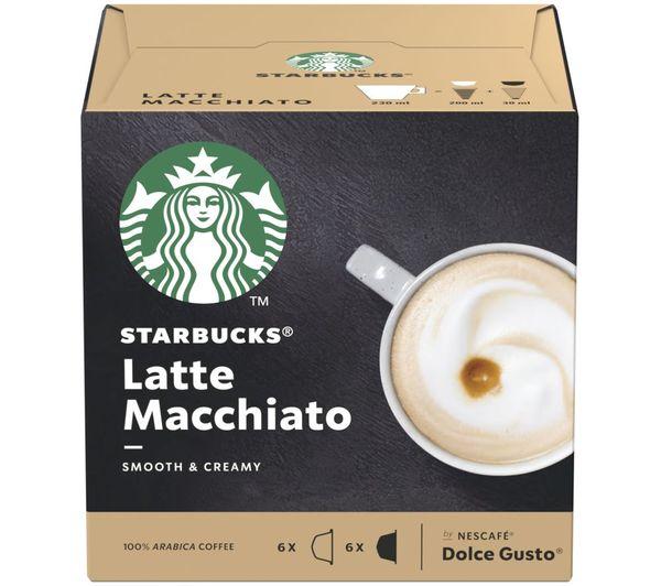 Image of STARBUCKS Dolce Gusto Latte Macchiato Coffee Pods - Pack of 12