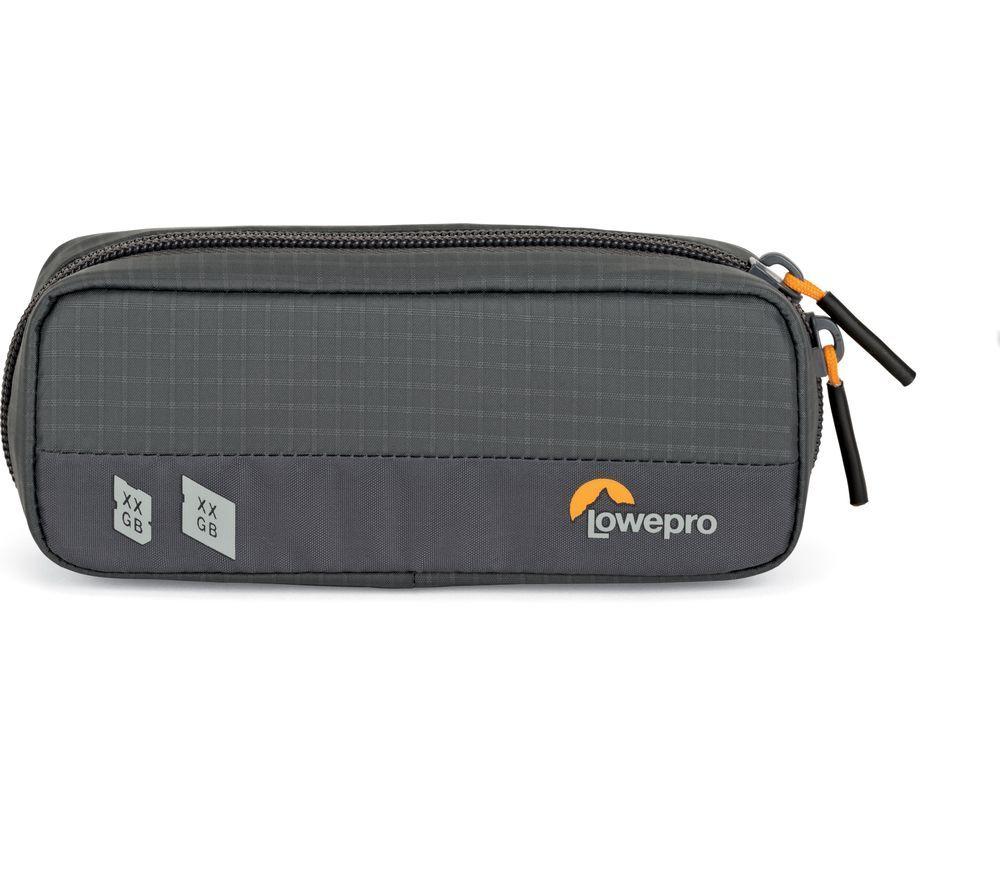 LOWEPRO GearUp Memory Wallet 20 Memory Card Case - Grey & Orange