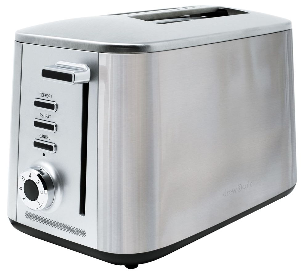 Image of Drew & Cole DREW & COLE Rapid 2-Slice Toaster - Chrome