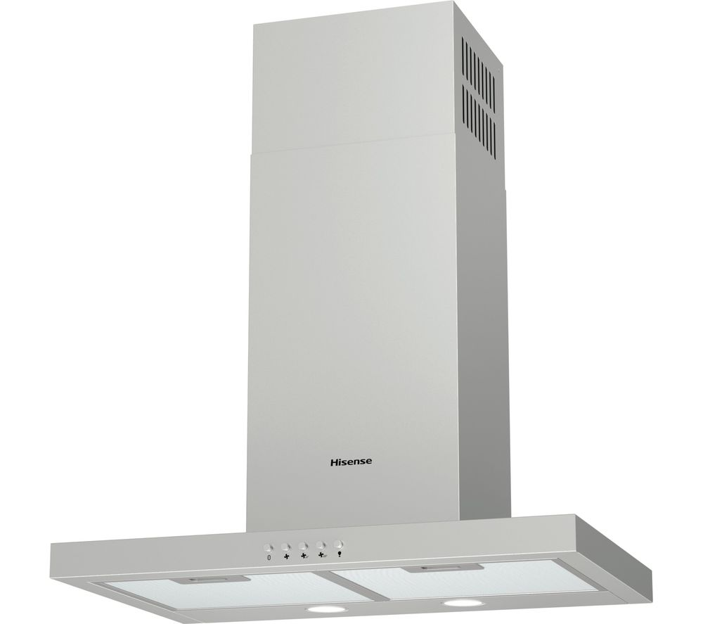 CH6T4BXUK Chimney Cooker Hood - Stainless Steel, Stainless Steel