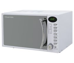 RUSSELL HOBBS RHM1714WC Compact Solo Microwave - White Best Price, Cheapest Prices