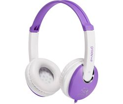 GROOV-E KIDZ GV-590-VW Kids Headphones - Violet & White