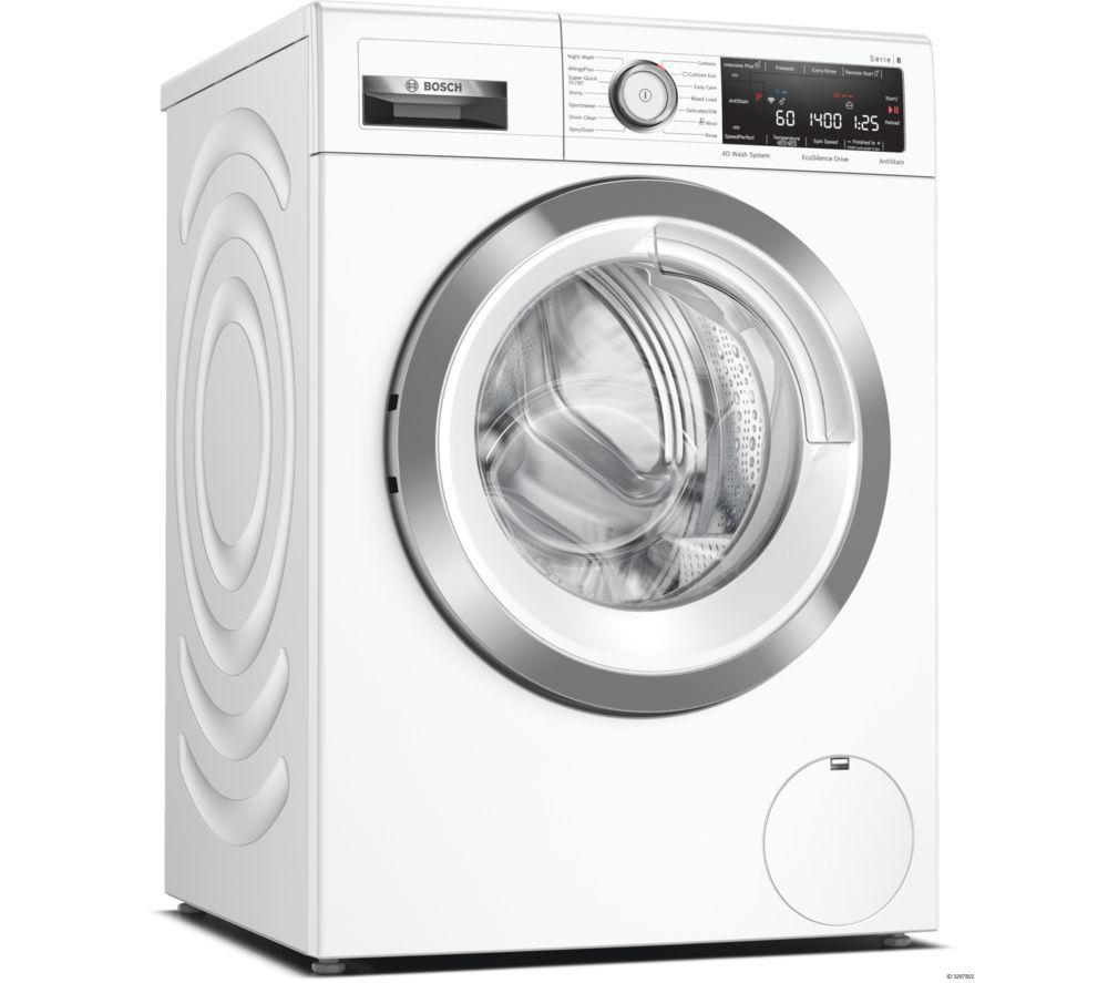 BOSCH Serie 8 WAV28MH9GB WiFi-enabled 9 kg 1400 Spin Washing Machine – White