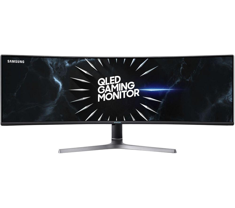 "Image of SAMSUNG LC49RG90SSUXEN Quad HD 49"" Curved LED Gaming Monitor - Dark Grey, Grey"