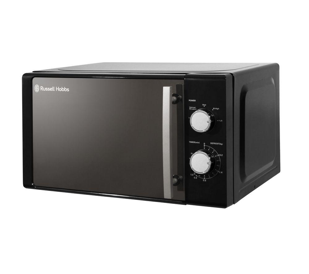RUSSELL HOBBS RHM2093B Compact Solo Microwave - Black, Black