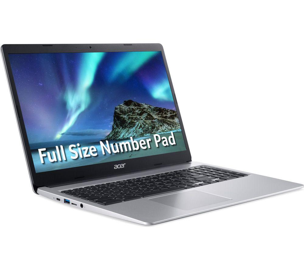 "ACER 315 15.6"" Chromebook - Intel® Celeron®, 64 GB eMMC, Silver"