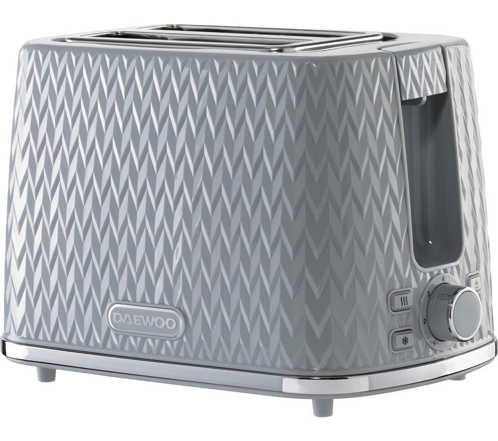 DAEWOO Argyle Collection SDA1821 2-Slice Toaster - Grey