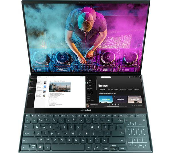 "Image of ASUS ZenBook Pro Duo UX581LV 15.6"" Laptop - Intel®Core™ i7, 512 GB SSD, Blue, Blue"