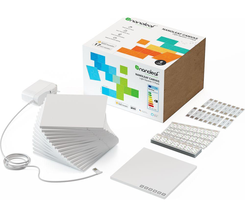 NANOLEAF Canvas Smarter Kit Smart Lights - Pack of 17