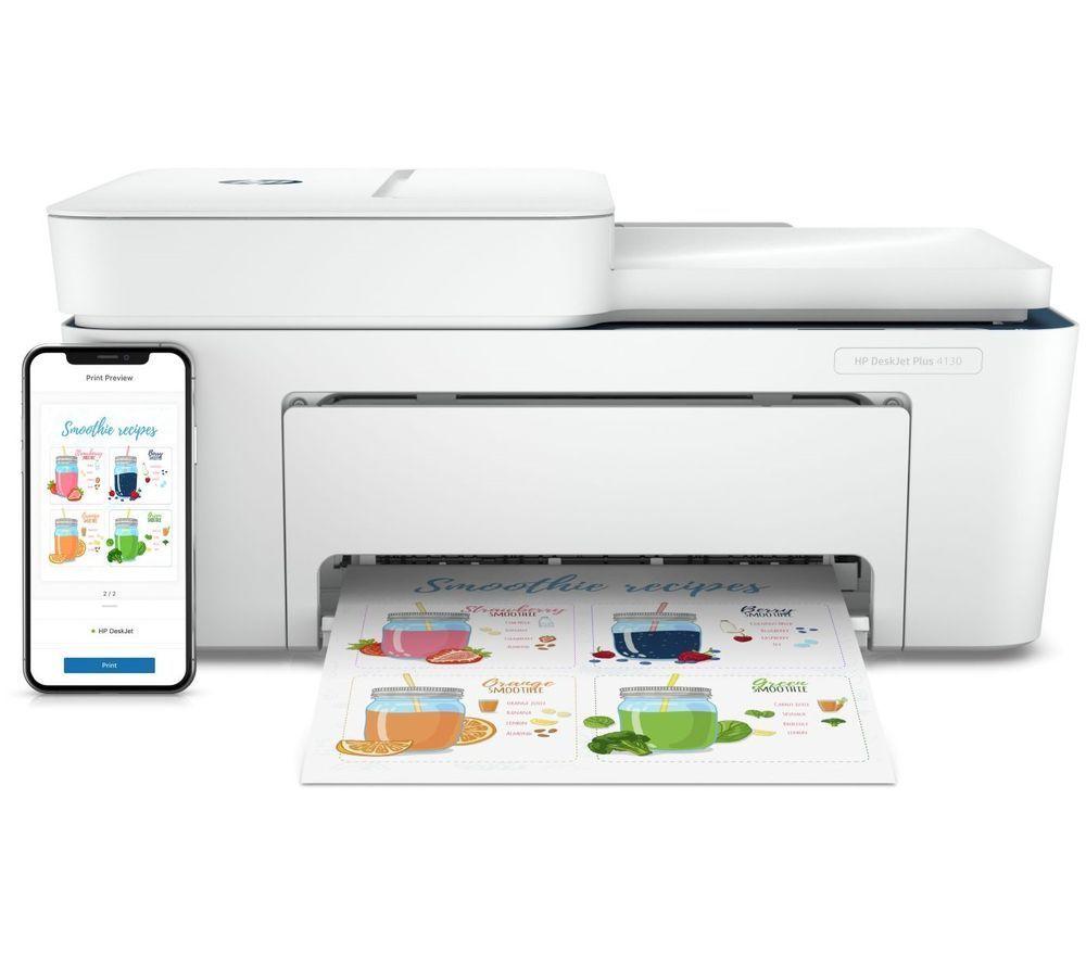 HP DeskJet Plus 4130 All-in-One Wireless Inkjet Printer