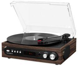 VTA-65-ESP-EU All-in-1 Bluetooth Music Centre - Mahagony