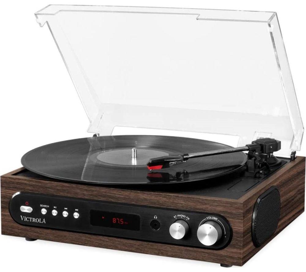 VICTROLA VTA-65-ESP-EU All-in-1 Bluetooth Music Centre - Mahagony
