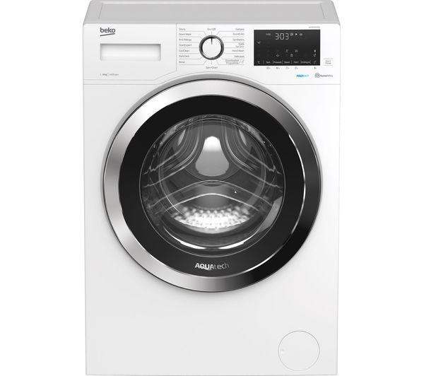 BEKO AquaTech WEX84064E0W Bluetooth 8 kg 1400 Spin Washing Machine - White