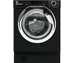H-Wash 300 HBWS48D1ACBE Integrated 8 kg 1400 Spin Washing Machine – Black