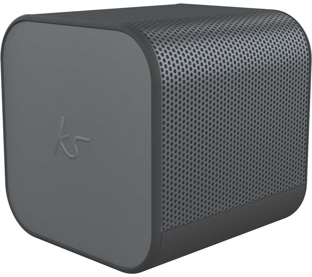 KITSOUND BoomCube Portable Bluetooth Speaker - Gun Metal