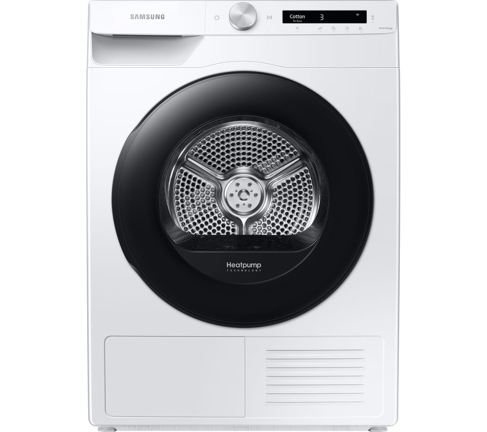SAMSUNG DV80T5220AW/S1 WiFi-enabled 8 kg Heat Pump Tumble Dryer - White, White