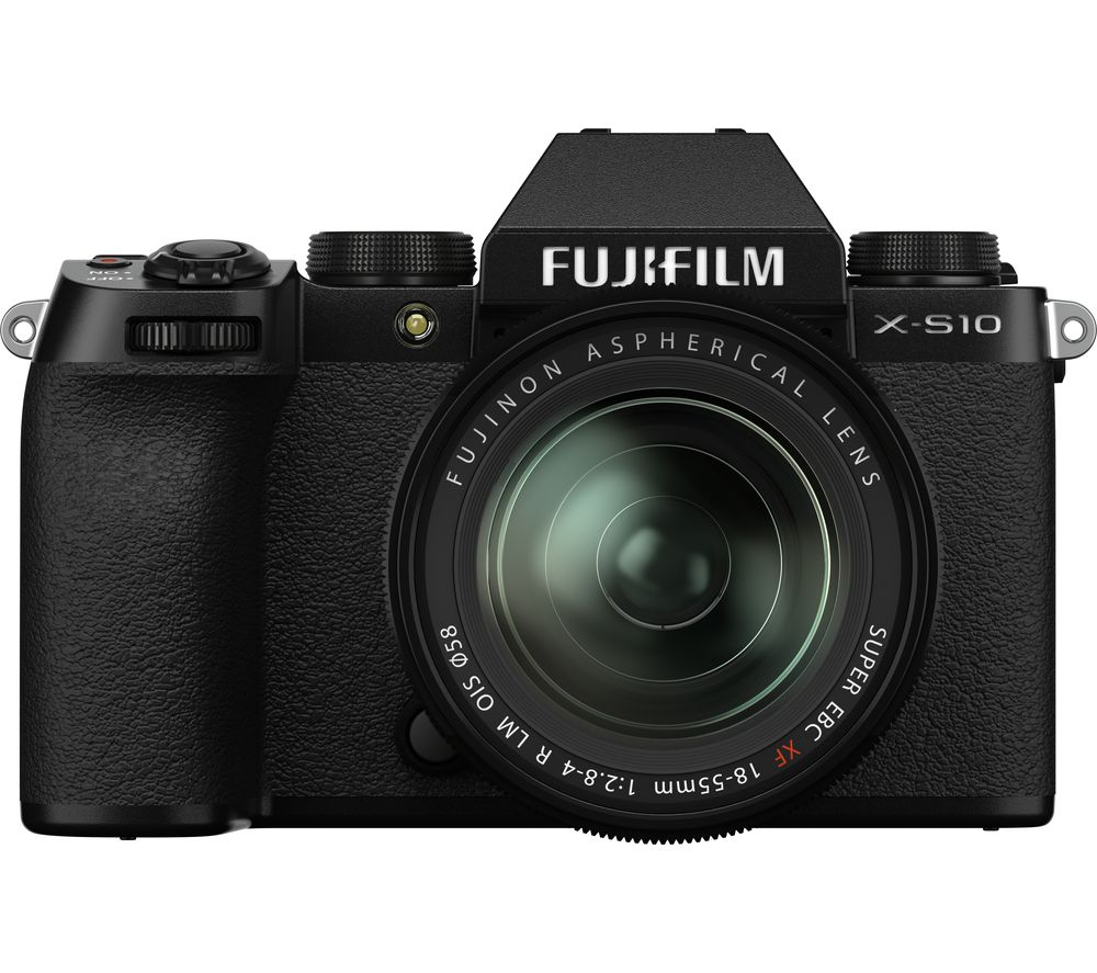 Click to view product details and reviews for Fujifilm X S10 Mirrorless Camera With Fujinon Xf 18 55 Mm F 28 4 R Lm Ois Lens Black Black.