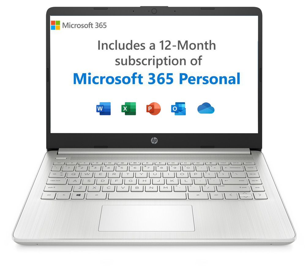 """Image of HP 14s-dq2502na 14"""" Laptop - Intel®Pentium Gold, 128 GB SSD, Silver, Gold"""