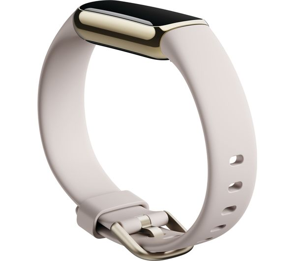 Buy FITBIT Luxe Fitness Tracker - Lunar White & Soft Gold, Universal   Free  Delivery   Currys