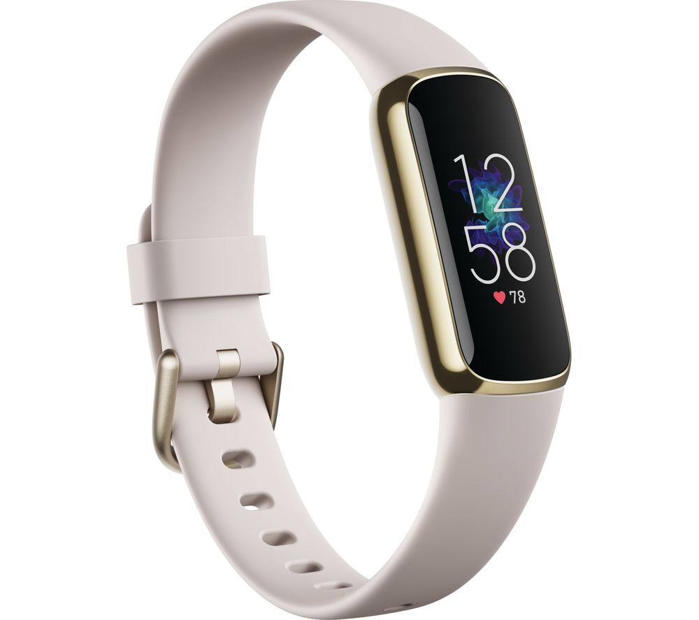 FITBIT Luxe Fitness Tracker - Lunar White & Soft Gold, Universal