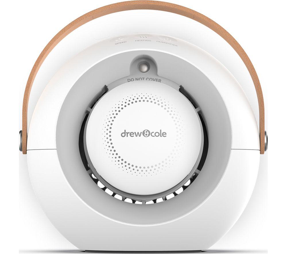 "SMART AIR Humi Portable 6.8"" Hot & Cool Desk Fan - White"