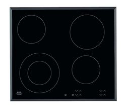 AEG HK624010FB Electric Ceramic Hob - Black Best Price, Cheapest Prices