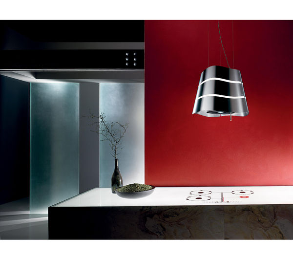 elica flow island cooker hood stainless steel