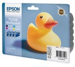 EPSON Ducks T0556 Cyan, Magenta, Yellow and Black Ink Cartridges - Multipack