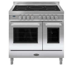 BRITANNIA Q Line 90 Twin Electric Induction Range Cooker - Stainless Steel
