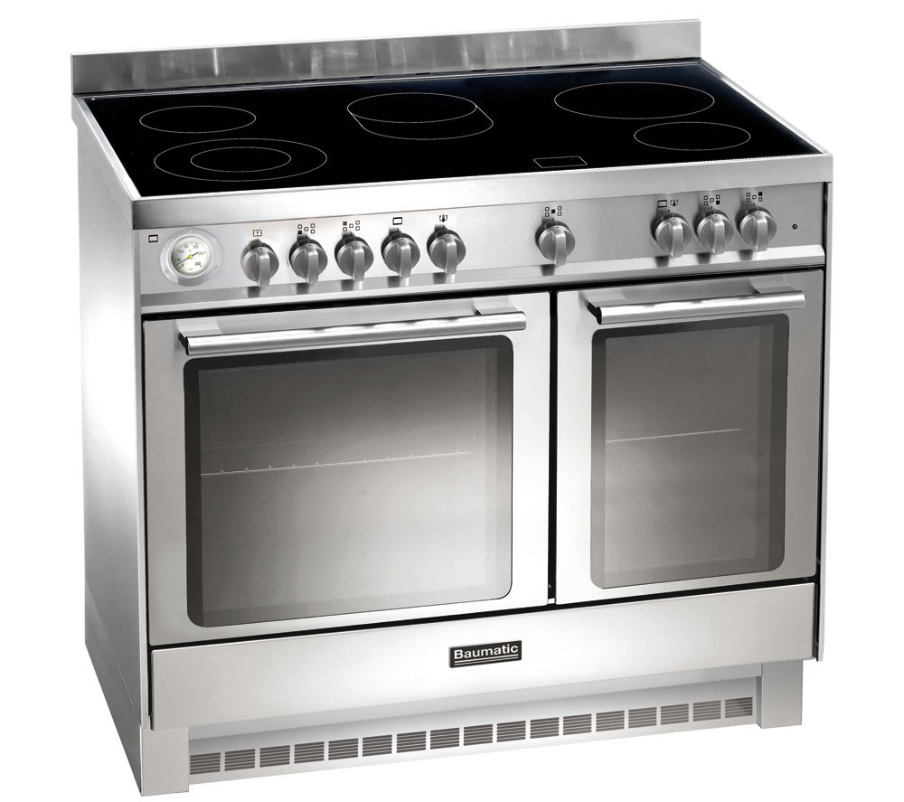 BAUMATIC BCE925SS Electric Ceramic Range Cooker - Stainless Steel