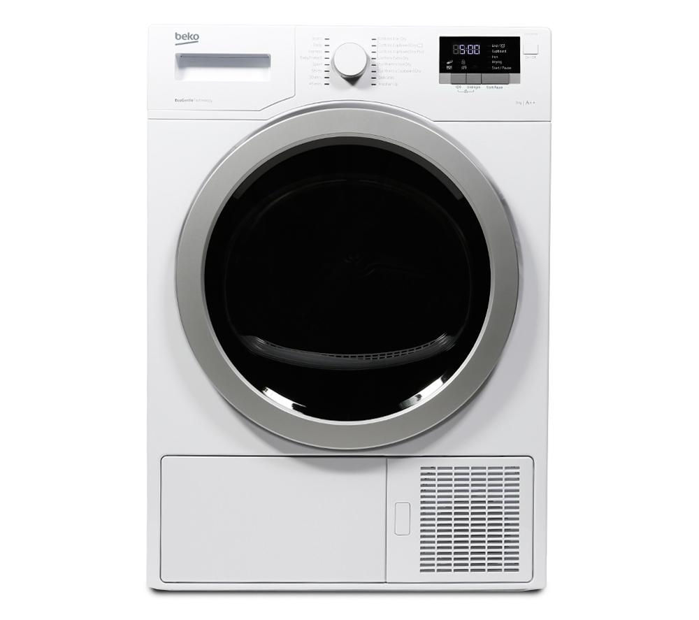 BEKO Select DSX83410W Heat Pump Tumble Dryer - White + DFN05X10W Full-size Dishwasher - White