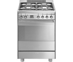 SMEG SUK61PX8 60 cm Dual Fuel Cooker - Stainless Steel Best Price, Cheapest Prices