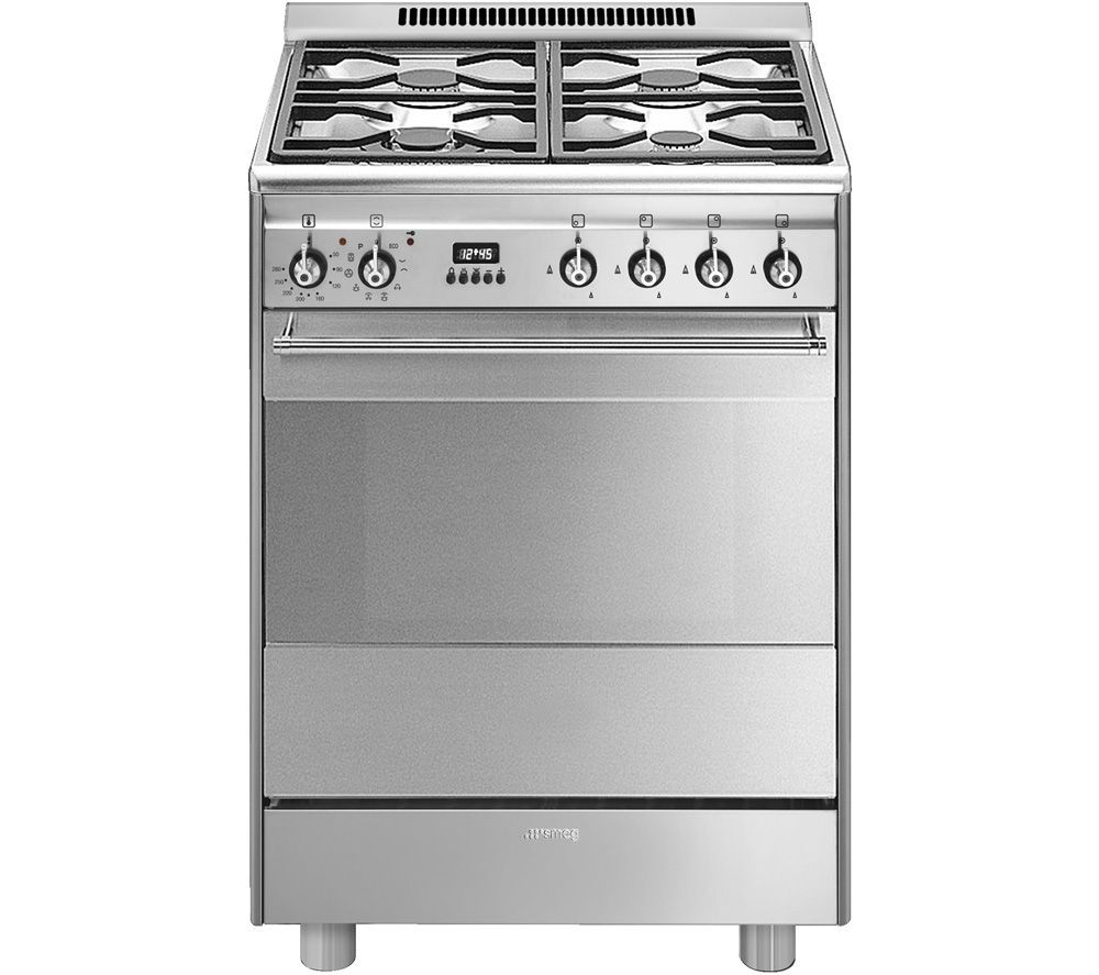 SMEG SUK61PX8 60 cm Dual Fuel Cooker - Stainless Steel
