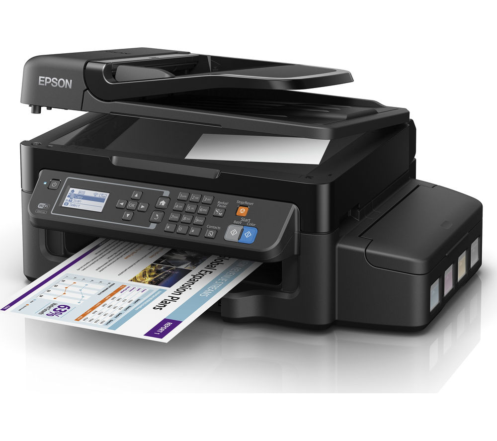 EPSON EcoTank ET-4500 All-in-One Wireless Inkjet Printer with Fax