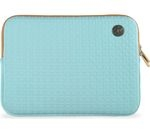 "GOJI GSMAQ1216 12"" MacBook Sleeve - Aqua & Brown"