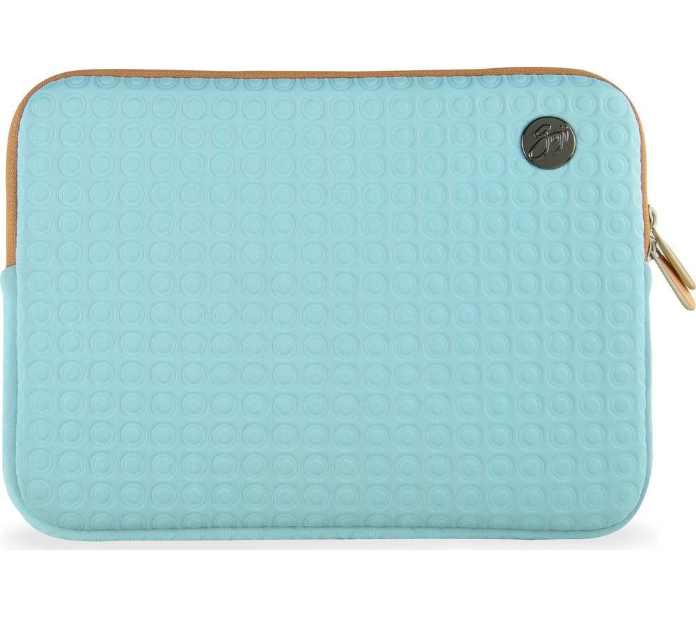 "GOJI GSMAQ1216 12"" MacBook Sleeve - Aqua & Brown"