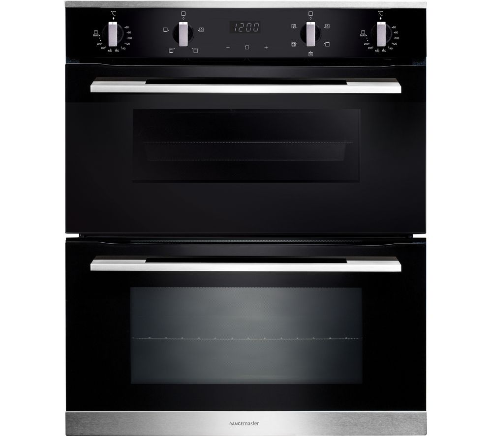 RANGEMASTER RMB7245BL/SS Electric Double Oven - Black & Stainless Steel