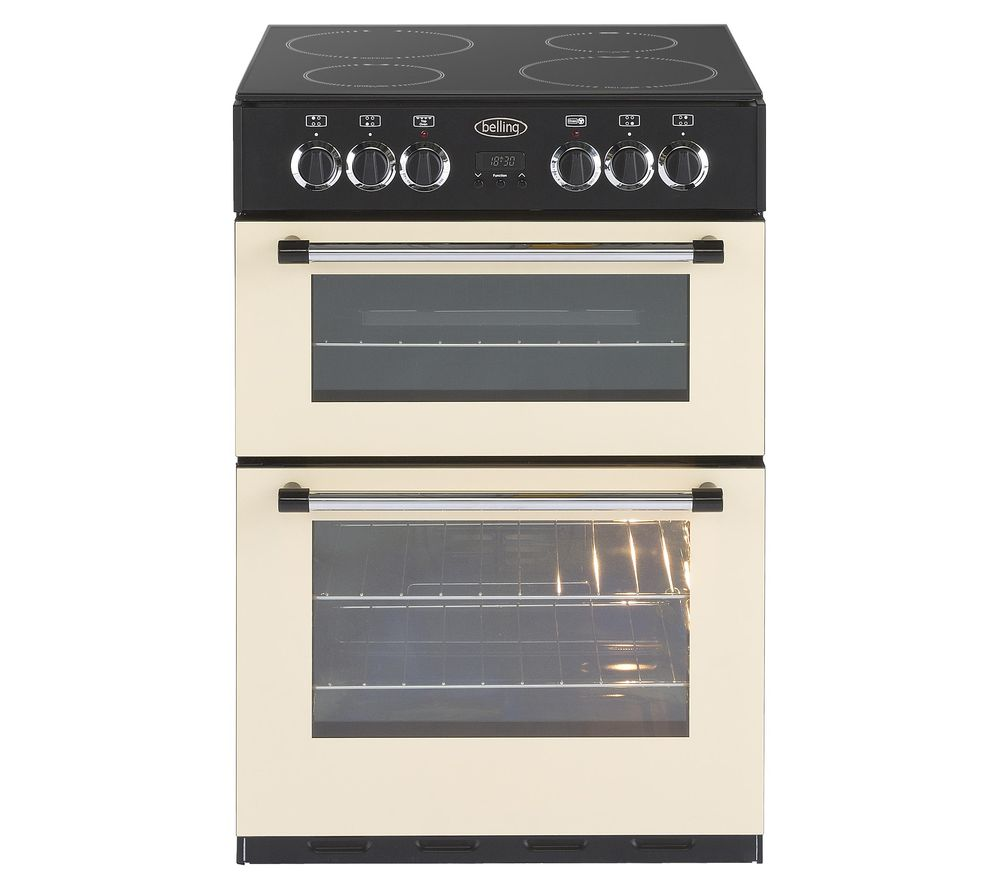 BELLING Classic 60E 60 cm Electric Ceramic Cooker - Cream & Black