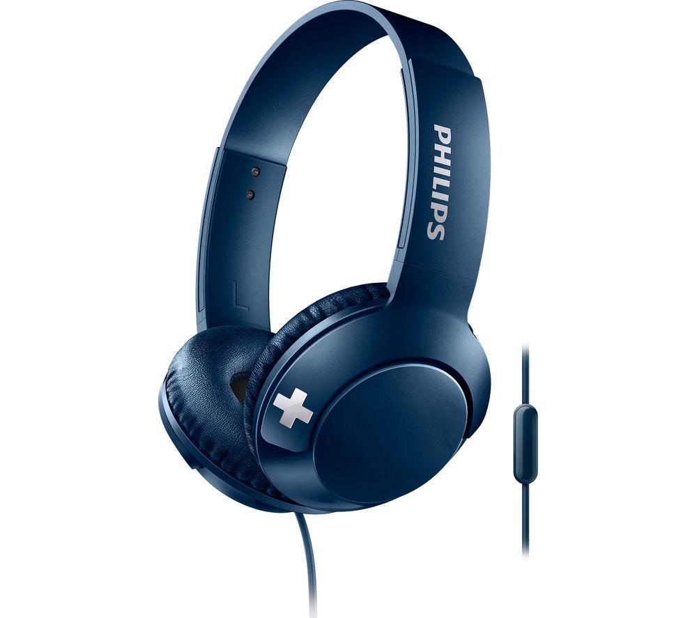 PHILIPS Bass+ SHL3075BL Headphones - Blue