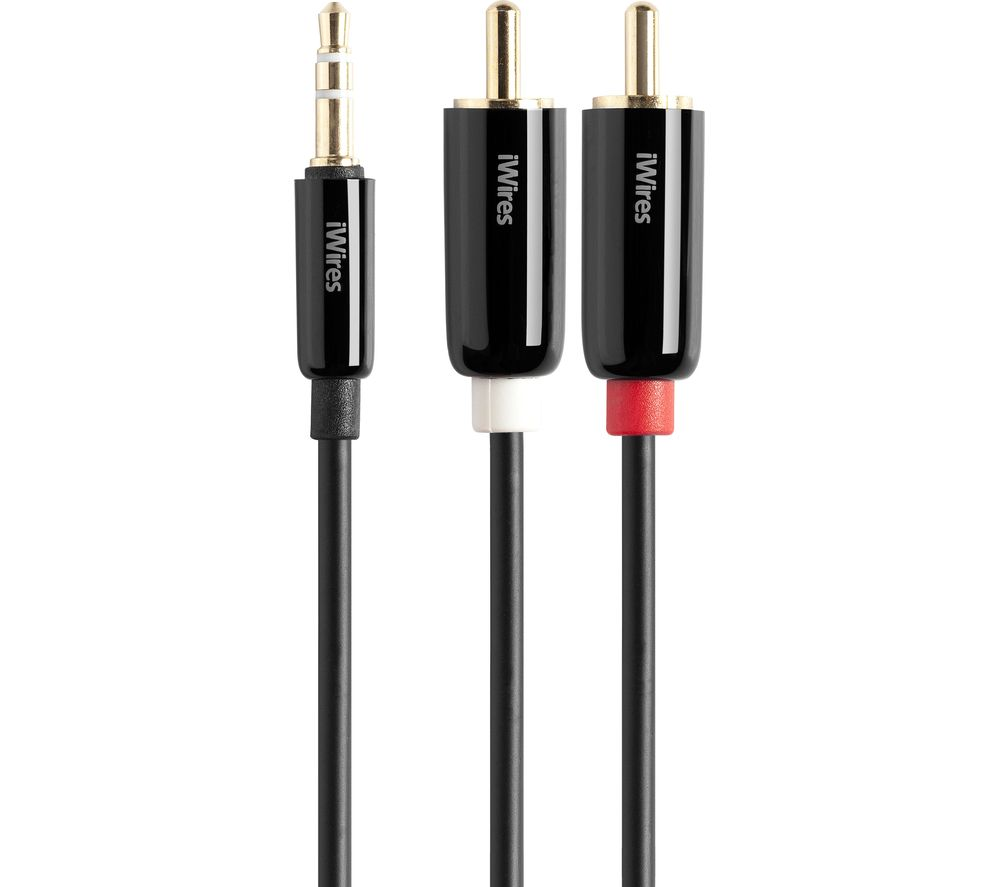 techlink 3 5 mm to rca cable 1 m deals pc world. Black Bedroom Furniture Sets. Home Design Ideas