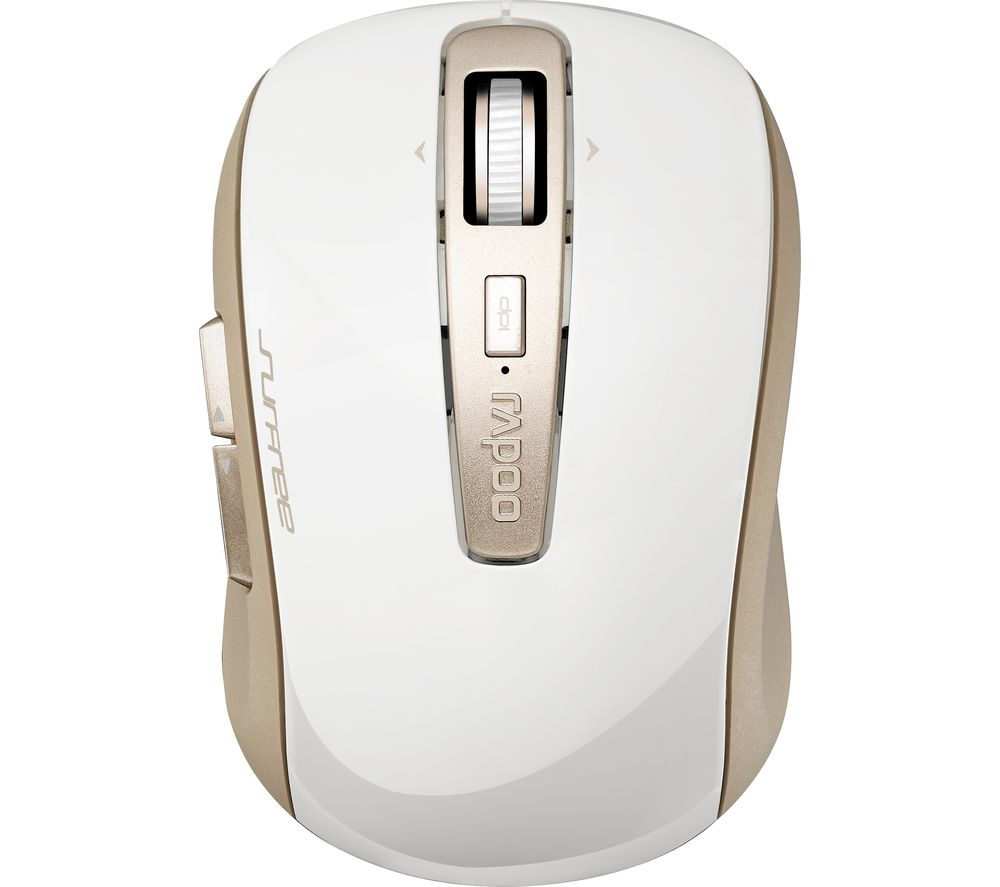 Image of RAPOO 3920P Wireless Laser Mouse - White & Gold, White