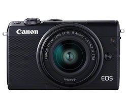 CANON EOS M100 Mirrorless Camera with EF-M 15-45 mm f/3.5-6.3 Lens - Black