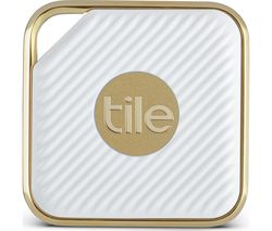 TILE Style Bluetooth Tracker - Gold & White, Pack of 2