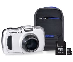 PRAKTICA Luxmedia WP240-S Compact Camera & Accessories Bundle - Silver