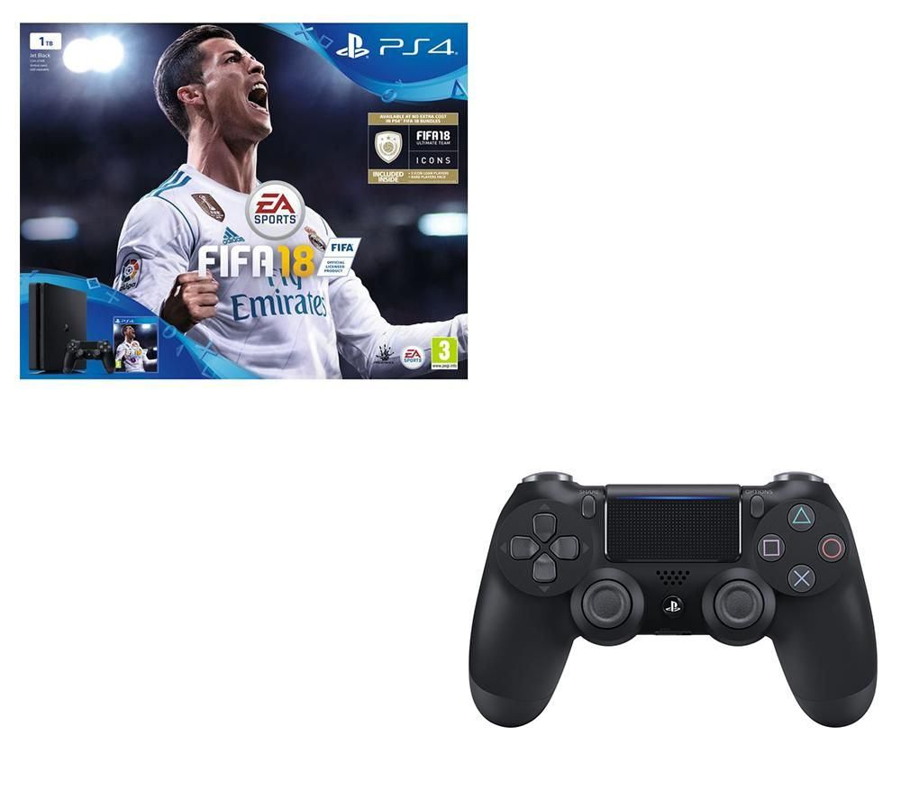 SONY PlayStation 4 Slim, FIFA 18 & Controller Bundle