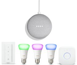 PHILIPS Hue White & Colour Ambiance E27 Smart Bulb Starter Kit