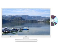 "LOGIK L24HEDW18 24"" LED TV with Built-in DVD Player - White"