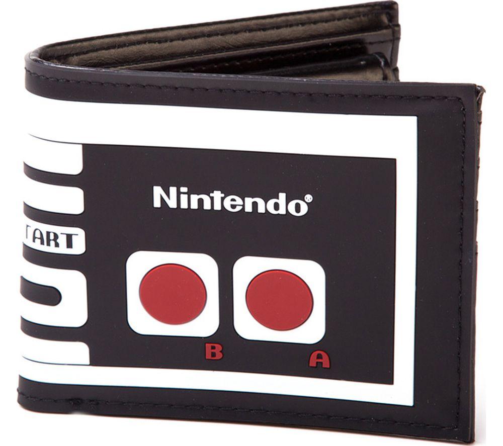 Image of NINTENDO NES Controller Bifold Wallet - Black, Black