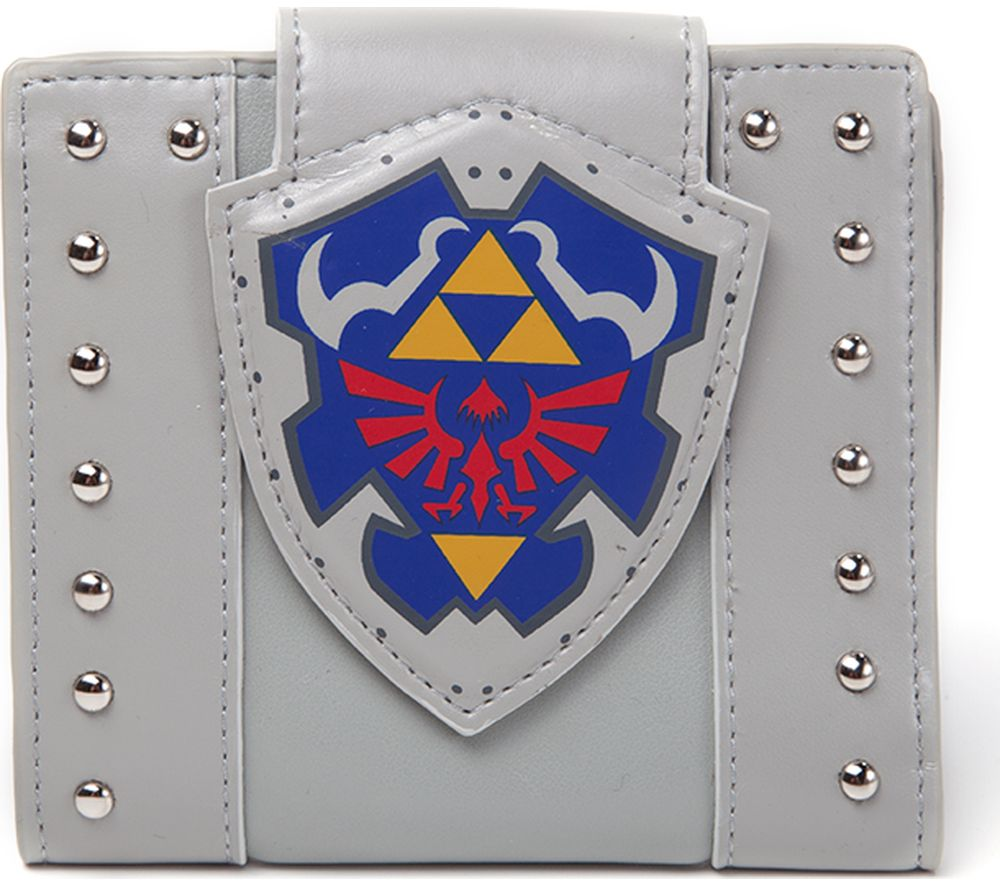 NINTENDO Legend of Zelda Links Shield Bifold Wallet - Grey, Grey
